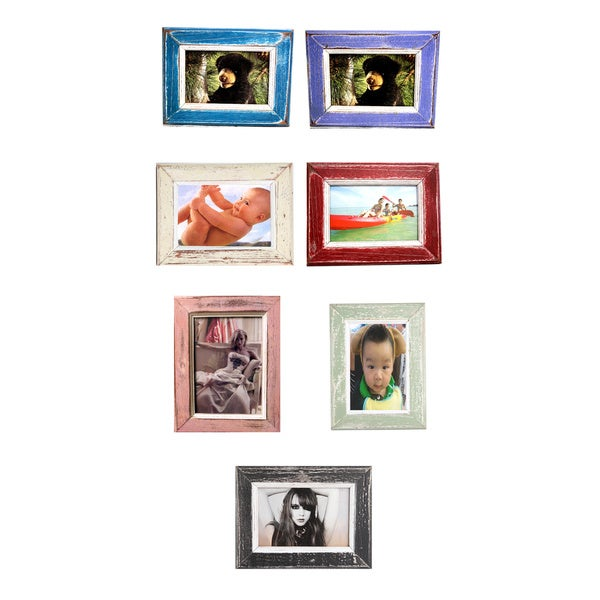 Recycled Wood 4x6-inch Single Photo Frame (Thailand)