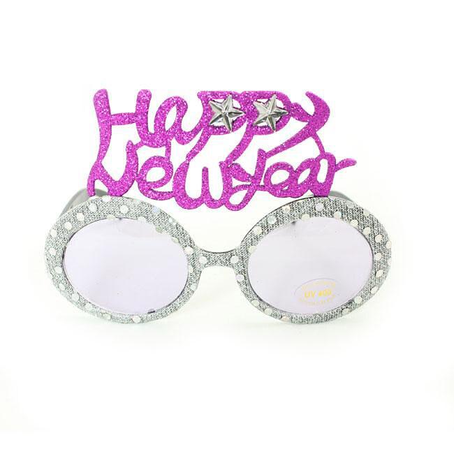 Women's 2354 Silver Fashion Happy New Year Sunglasses