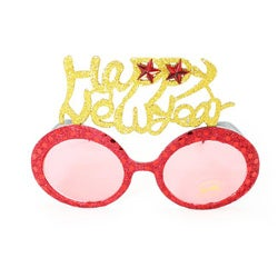 Women's 2354 Red Fashion Happy New Year Sunglasses