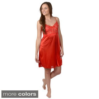 Happie Brand Women's Lacy Polyester Chemise Nightgown
