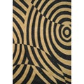 Hand-tufted Pavlov Brown/ Black Wool Rug (8' x 10')