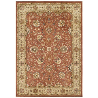 Hand-tufted Sabrina Rust New Zealand Wool Rug (8' x 10')