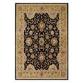 Handmade Delhi Black New Zealand Wool Rug (9' x 12')