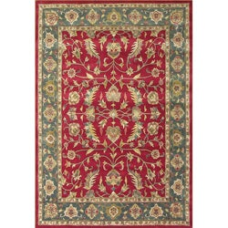 Alliyah Handmade Red New Zealand Wool Rug (9' x 12')