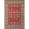 Handmade Delhi Red New Zealand Wool Rug (6' x 9')