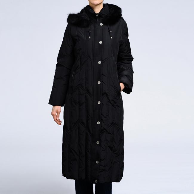 Nuage Women's Down Faux Fur Trim Hooded Coat