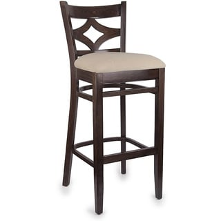 Diamond Back Walnut/ Cream Bar Stool
