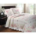 Coral Red 3-piece Quilt Set