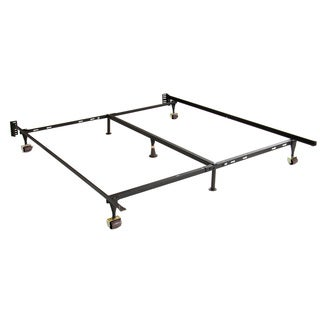 Adjustable Twin/ Full/ Queen Steel Bed Frame with Casters