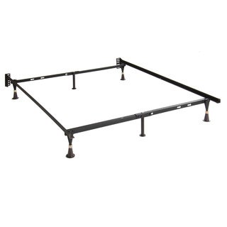 Adjustable Twin/ Full Glide-leg Steel Bed Frame