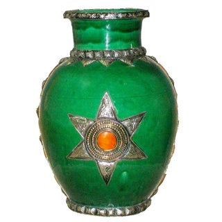 Clay Kasbah Collector's Vase , Handmade in Morocco