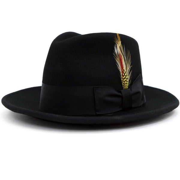 Ferrecci Men's Black Wool Felt Fedora