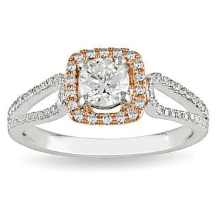 Miadora 14k White/Rose Gold 3/4ct TDW Diamond Ring (G-H-I, I1-I2)
