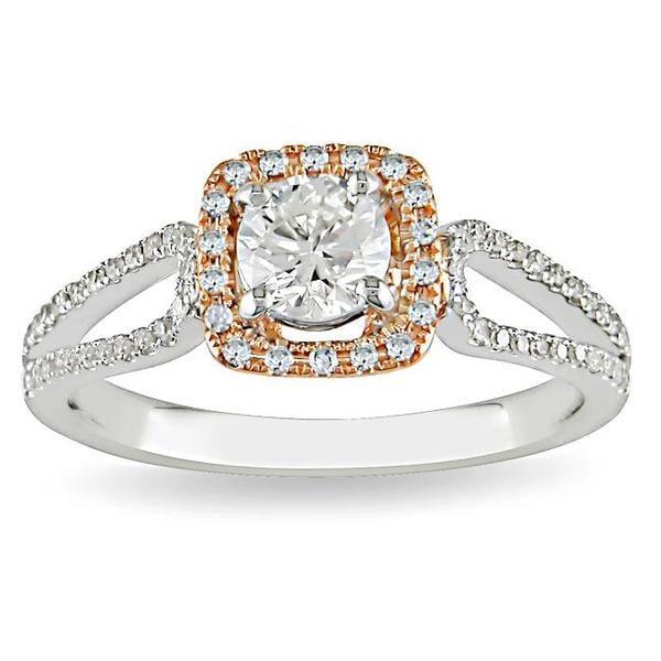 Miadora 14k White/Rose Gold 3/4ct TDW Diamond Ring (G-H-I, I1-I2)