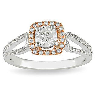 14k White/Rose Gold 3/4ct TDW Diamond Ring (G-H-I, I1-I2)