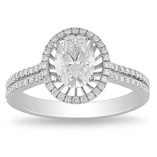 Miadora Signature Collection 14k White Gold 1 1/3ct TDW Certified Diamond Ring (E, VS1)