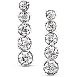 Miadora 18k White Gold 2 1/4ct TDW Diamond Earrings (G-H, SI1-SI2)