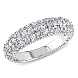 Miadora 10k White Gold 3/4ct TDW Diamond Ring (G-H, I2-I3)