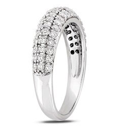 Miadora 10k White Gold 3/4ct TDW Pave Diamond Ring (G-H, I2-I3)