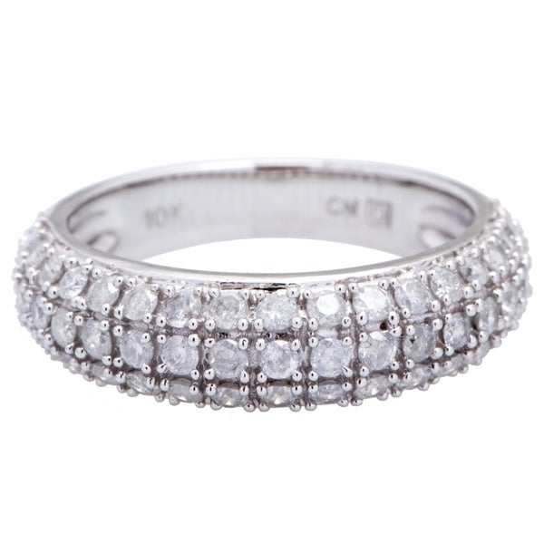 Miadora 3/4 CT Diamond TW Fashion Ring 10k White Gold GH I2;I3