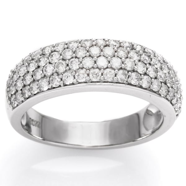 Miadora 1 CT Diamond TW Fashion Ring 10k White Gold GH I2;I3