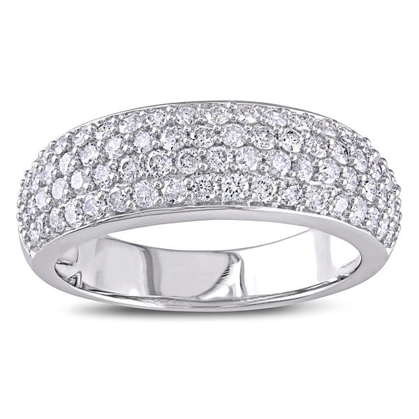 Miadora 1 CT Diamond TW Fashion Ring 10k White Gold GH I2;I3