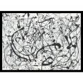 Jackson Pollock 'Number 14:Gray' Framed Art Print