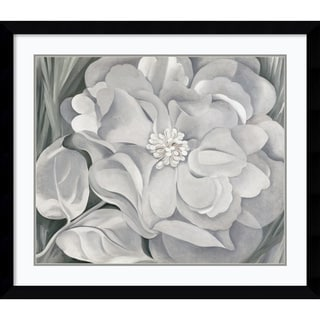 Georgia O'Keeffe 'The White Calico Flower, 1931' Framed Art Print