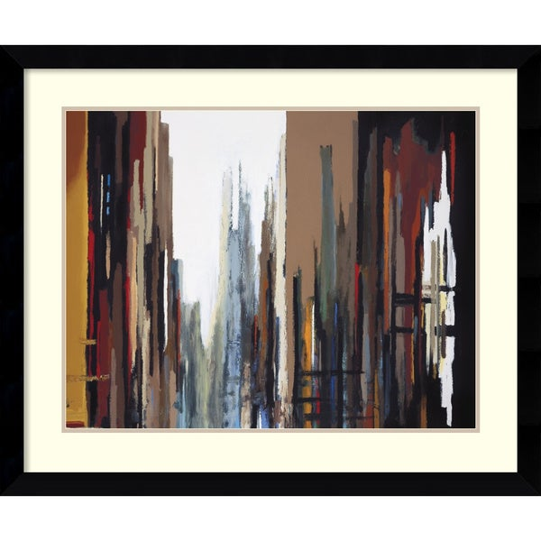 Gregory Lang 'Urban Abstract No. 165' Framed Art Print