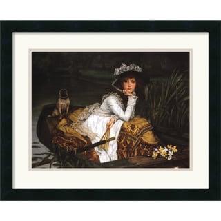 James Tissot 'Lady in a Boat' Framed Art Print