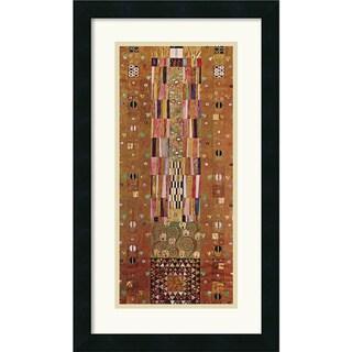 Gustav Klimt 'Pattern for the Stoclet Frieze, c. 1905-06, End Wall' Framed Art Print