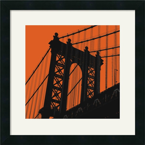 Erin Clark 'Orange Manhattan' Framed Art Print