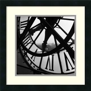 Tom Artin 'Orsay Clock' Framed Art Print