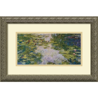 Claude Monet 'The Water Lily Pond, 1918' Framed Art Print