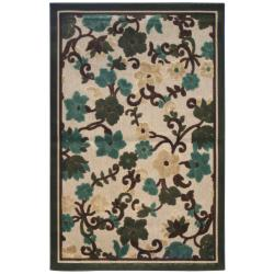 Terrace Floral Ivory Indoor/Outdoor Rug (8' x 10')