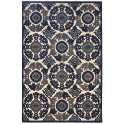 Transitional Terrace Ivory Indoor/Outdoor Rug (5' x 8')