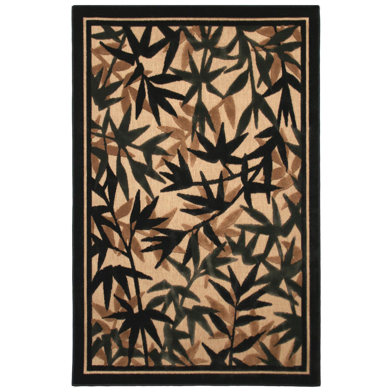 Large Beige Indoor/ Outdoor Floral Rug (8' x 10')
