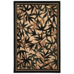 Beige Indoor/ Outdoor Floral Rug (5' x 8')