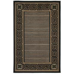 Beige Indoor/Outdoor Geometric Area Rug (5' x 8')