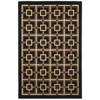 Beige Indoor/ Outdoor Geometric Rug (5' x 8')