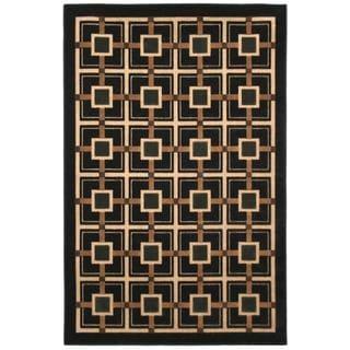 Beige Indoor/ Outdoor Geometric Rug (5' x 8')