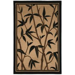 Traditional Beige Indoor/Outdoor Floral Rug (5' x 8')