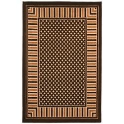 Beige/ Brown Indoor/ Outdoor Abstract Rug (5' x 8')
