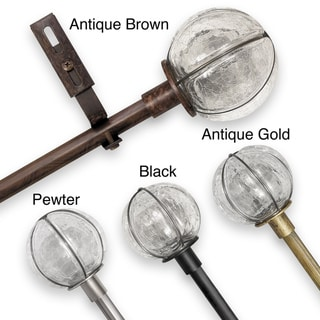 Adjustable Rod Sets with Cracked Glass Finial