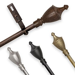Adjustable Curtain Rod Set with Bishop Finial