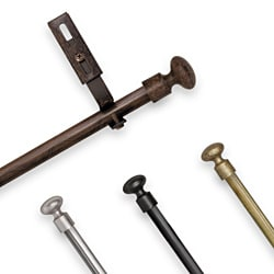 Adjustable Curtain Rod Set with Knob Finial