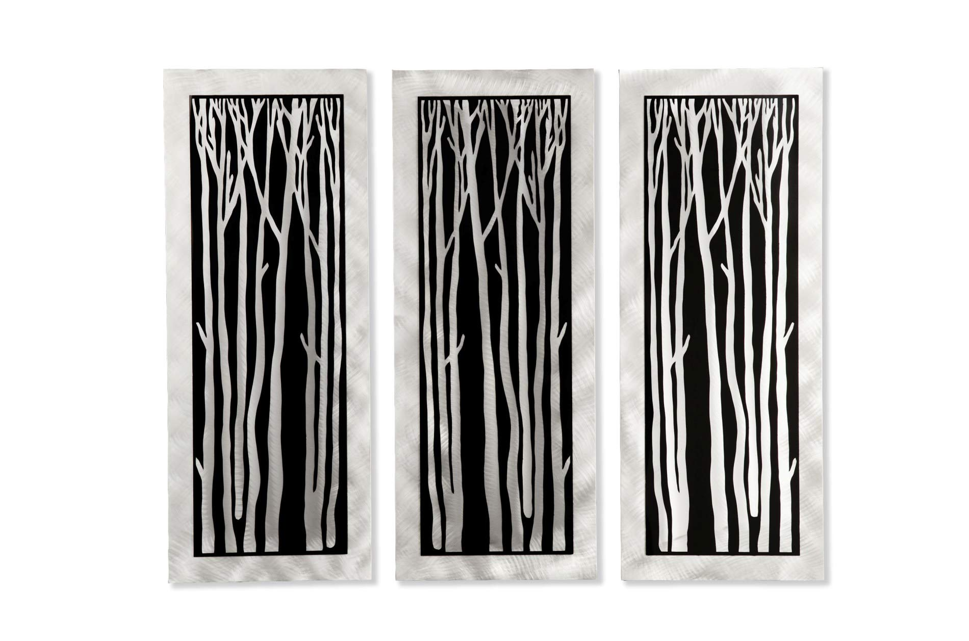 Jon Gilmore 'Silver Birch' 3-piece Wall Sculpture