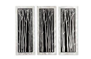 Jon Gilmore 'Silver Birch' 3-piece Wall Sculpture
