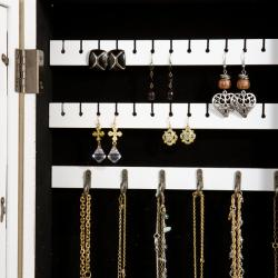 Alto Photo Display Wall-mount White Jewelry Armoire