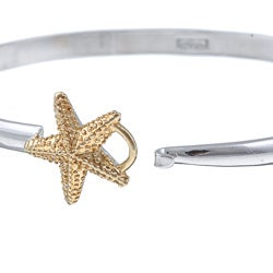 La Preciosa Sterling Silver Goldplated Starfish Bangle